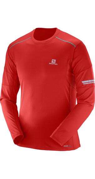 Salomon Agile Langærmet T-shirt Herrer rød